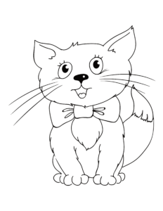 Kitten Coloring Pages Coloring Printables For Kids